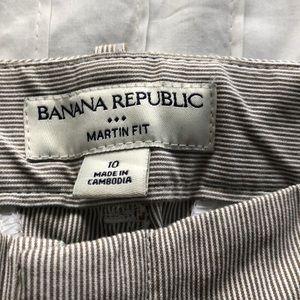 Banana Republic Pants - Banana Republic Martin Fit Striped Chinos